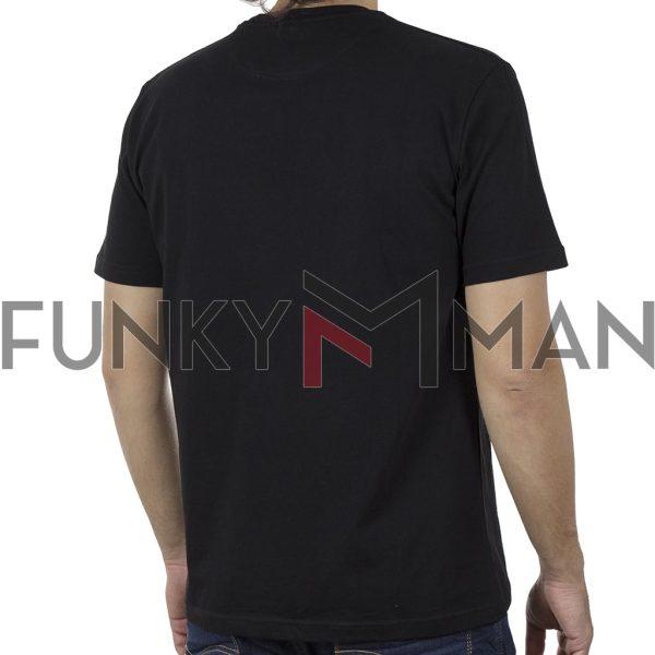 Κοντομάνικη Μπλούζα Pique T-Shirt 180gr CARAG 22-222-20N SS20 Μαύρο