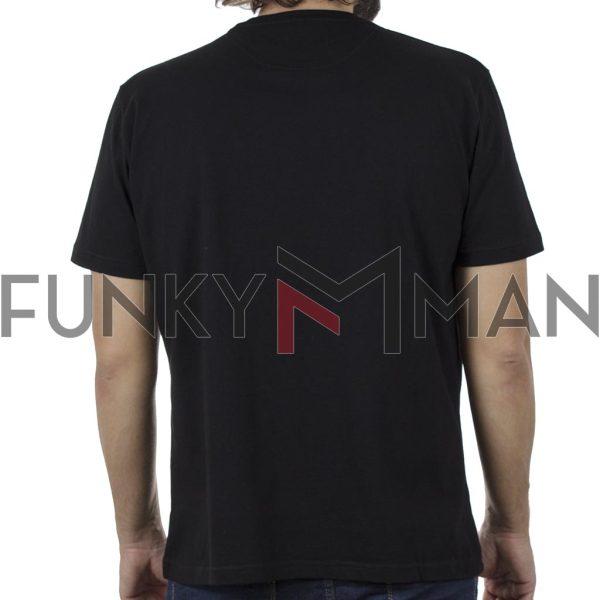 Κοντομάνικη Μπλούζα Pique T-Shirt 180gr CARAG 22-255-20N SS20 Μαύρο