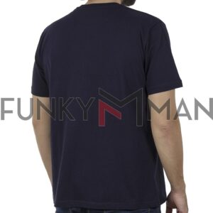 Κοντομάνικη Μπλούζα Pique T-Shirt 180gr CARAG 22-255-20N SS20 Navy