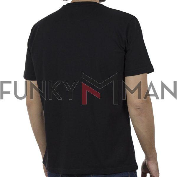 Κοντομάνικη Μπλούζα Pique T-Shirt 180gr CARAG 22-288-20N SS20 Μαύρο