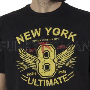 Κοντομάνικη Μπλούζα Pique T-Shirt 180gr CARAG 55-200-20N SS20 Μαύρο