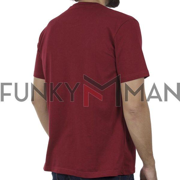 Κοντομάνικη Μπλούζα Pique T-Shirt 180gr CARAG 55-200-20N SS20 Σκούρο Κόκκινο