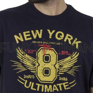 Κοντομάνικη Μπλούζα Pique T-Shirt 180gr CARAG 55-200-20N SS20 Navy
