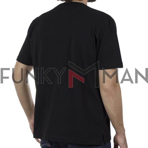 Κοντομάνικη Μπλούζα Pique T-Shirt 220gr CARAG 99-220-20N SS20 Μαύρο