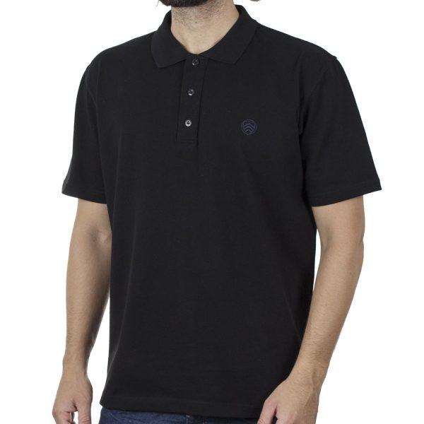 Κοντομάνικη Μπλούζα Polo Pique 220gr CARAG 99-590-20N SS20 Μαύρο