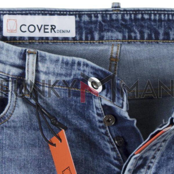 Τζιν Παντελόνι Carrot Fit COVER DUAL D3742 SS20 Μπλε