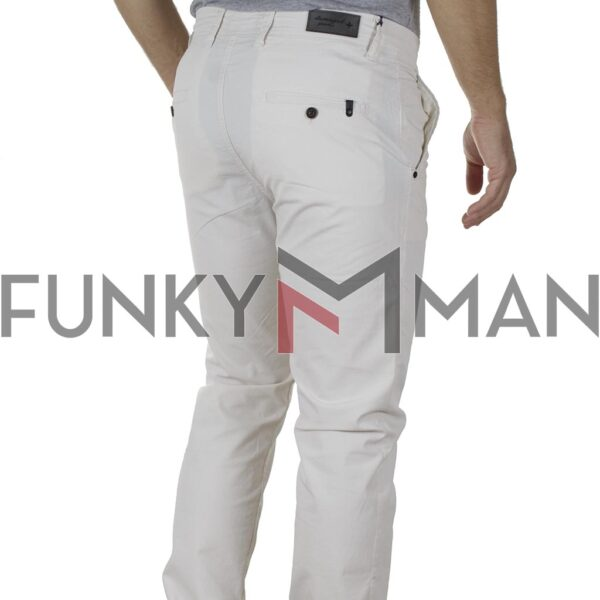 Παντελόνι Casual Chinos Fabric Design DAMAGED jeans D10A SS20 Λευκό
