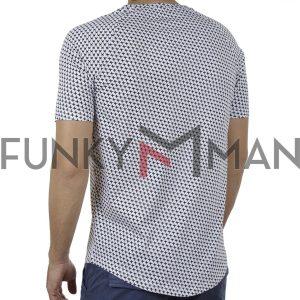 Κοντομάνικη Μπλούζα Fashion T-Shirt Ponte Rosso 20-1041 ROACH SS20 Λευκό