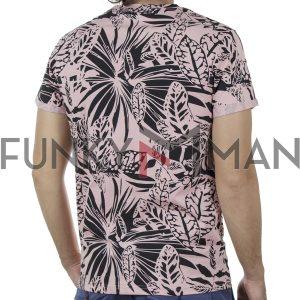 Κοντομάνικη Μπλούζα Fashion T-Shirt PONTEROSSO 20-1054 PHOENIX SS20 Φλοράλ Ροζ