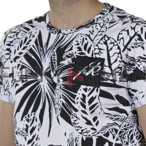 Κοντομάνικη Μπλούζα Fashion T-Shirt PONTEROSSO 20-1054 PHOENIX SS20 Φλοράλ Λευκό