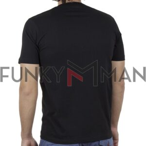 Κοντομάνικη Μπλούζα T-Shirt PONTEROSSO 20-1055 OFF SS20 Μαύρο