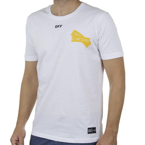 Κοντομάνικη Μπλούζα T-Shirt PONTEROSSO 20-1055 OFF SS20 Λευκό