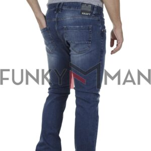 Τζιν Παντελόνι Slim Fit SHAFT Jeans 8512 SS20 Denim Μπλε