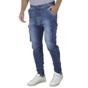 Τζιν Cargo Παντελόνι με Λάστιχα BLADE WX13 SS20 Μπλε