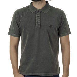Κοντομάνικη Μπλούζα Polo Pique 200gr CARAG 20-550-20N SS20 Pesto