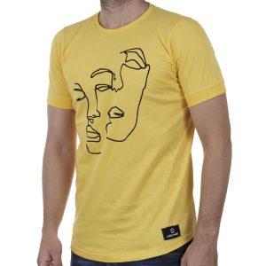 Κοντομάνικη Μπλούζα T-Shirt Cotton4all 20-921 SS20 Κίτρινο