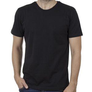 Κοντομάνικη Μπλούζα T-Shirt Cotton4all 20-947 SS20 Μαύρο