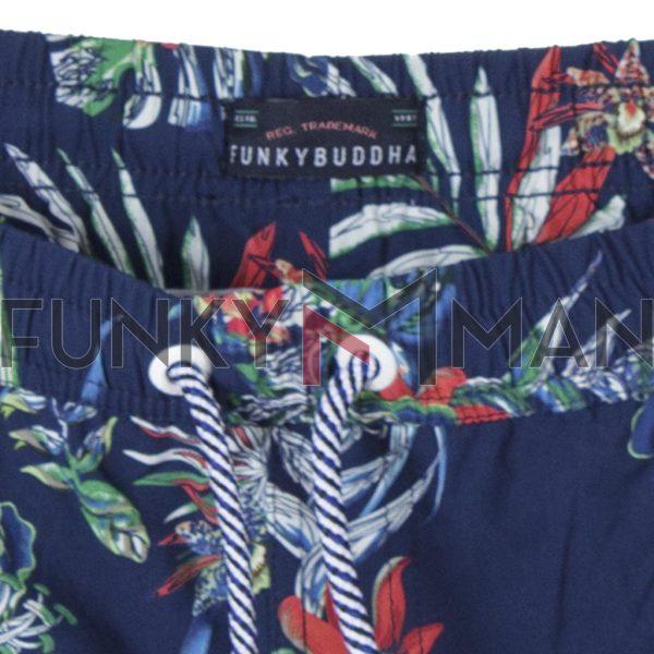 Μαγιό Βερμούδα All Over Print FUNKY BUDDHA FBM00101016 SS20 Φλοράλ Μπλε