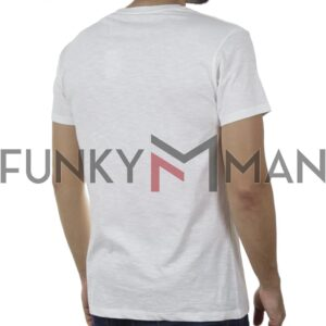 Κοντομάνικη Μπλούζα FUNKY BUDDHA FBM00101204 SS20 Λευκό