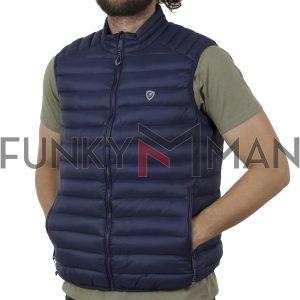Αμάνικο Μπουφάν Puffer Vest Jacket SPLENDID 43-202-001 SS20 Μπλε