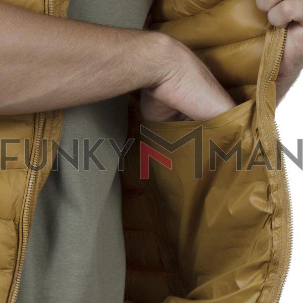 Αμάνικο Μπουφάν Puffer Vest Jacket SPLENDID 43-202-001 SS20 Mustard