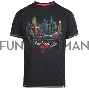 New York City SkyLine T-Shirt DUKE 600640 SHELBY SS20 Μαύρο