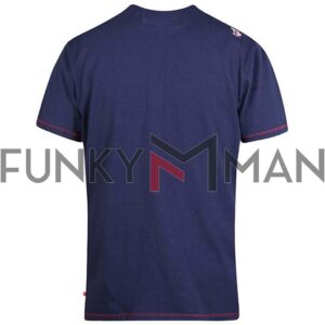 Κοντομάνικο Crew Neck T-Shirt DUKE 600646 STAFFORD SS20 Navy