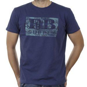 Κοντομάνικη Μπλούζα FUNKY BUDDHA FBM00106104 SS20 Μπλε
