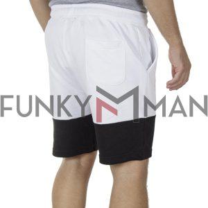 Μακό Βερμούδα PonteRosso 20-1031 Shorts SS20 Λευκό