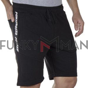Μακό Βερμούδα PonteRosso 20-1033 Shorts SS20 Μαύρο
