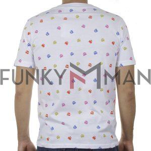 Κοντομάνικο Fashion T-Shirt PONTEROSSO 20-1057 PACMAN SS20 Λευκό