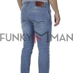 Τζιν Παντελόνι Slim Fit SCINN Jeans ELTON MD SS20 Ανοιχτό Μπλε