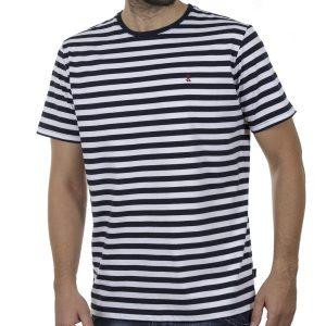 Κοντομάνικη Μπλούζα T-Shirt SNTA SSC-1-61 SS20 Ριγέ Navy