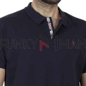 Κοντομάνικο Polo Shirt SNTA SSC-2-18 SS20 Navy