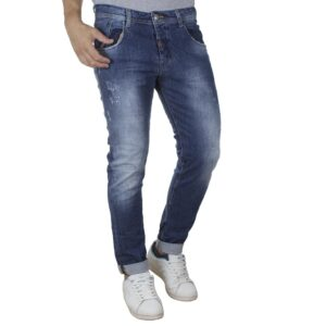 Τζιν Παντελόνι Back2jeans N18A SS20 Slim Μπλε