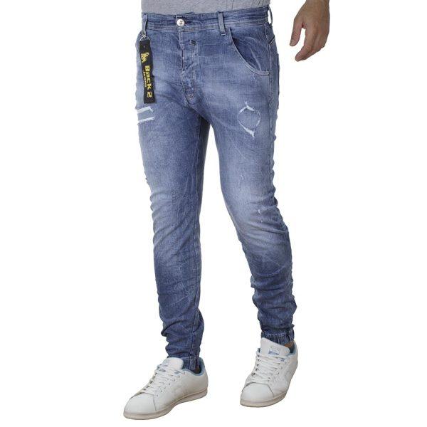 Τζιν Chinos Παντελόνι Back2jeans με Λάστιχα N20A SS20 Slim ανοιχτό Μπλε