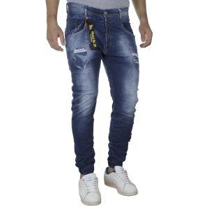 Τζιν Chinos Παντελόνι Back2jeans με Λάστιχα N22A SS20 Slim Μπλε