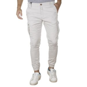 Cargo Παντελόνι Slim Fit με Λάστιχα COVER CANYON T0184 SS20 Εκρού