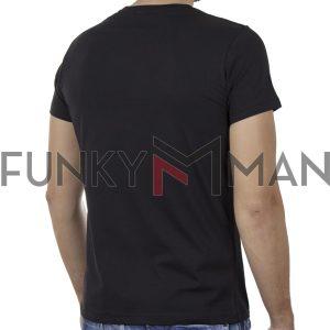 Κοντομάνικο T-Shirt COVER SPIRIT Y301 Μαύρο