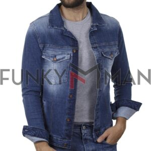 Jean Jacket DAMAGED JC6B SS20 Μπλε