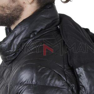 Puffer Jacket Δερματίνη DSPLAY YTY336 SS20 Μαύρο