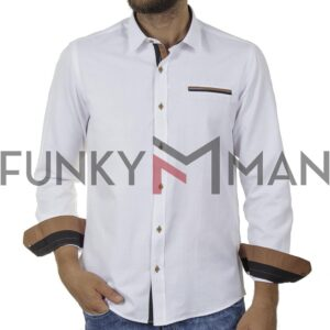 Πουκάμισο Comfort-Regular Fit FRANCO NERO MD-21 SS20 Λευκό