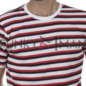 Κοντομάνικο Ριγέ T-Shirt FREE WAVE 21105 SS20 Κόκκινο