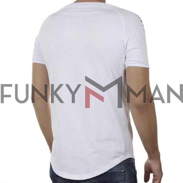 Κοντομάνικο Fashion T-Shirt FREE WAVE 21110 SS20 Λευκό