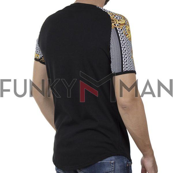 Κοντομάνικο Fashion T-Shirt FREE WAVE 21112 SS20 Μαύρο