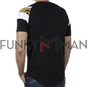Κοντομάνικο Fashion T-Shirt FREE WAVE 21114 SS20 Μαύρο
