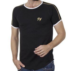 Κοντομάνικο Fashion T-Shirt FREE WAVE 21115 SS20 Μαύρο