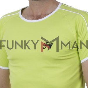 Κοντομάνικο Fashion T-Shirt FREE WAVE 21115 SS20 ανοιχτό Πράσινο
