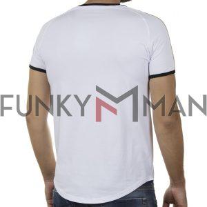 Κοντομάνικο Fashion T-Shirt FREE WAVE 21115 SS20 Λευκό