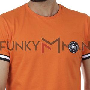 Κοντομάνικο Fashion T-Shirt FREE WAVE 21116 SS20 Πορτοκαλί
